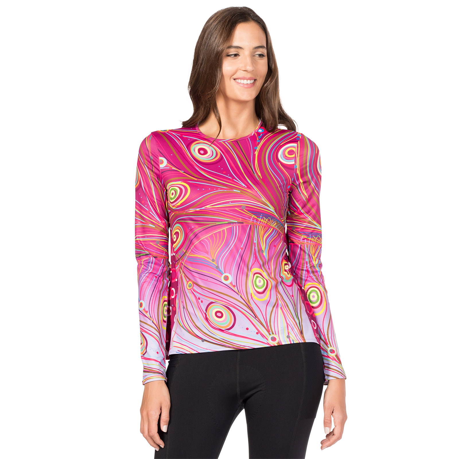 0550f4952 Terry Soleil Flow Long Sleeve Top - Peacock - Women s Cycling ...